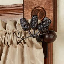 120 170 Inch Curtain Rod Bronze by Elegant Threshold Pine Cone Drapery Rod Oil Rubbed Bronze Curtain