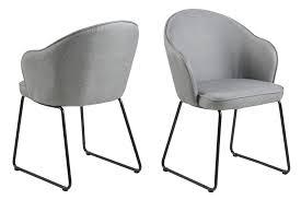 esszimmerstuhl mikki grau polsterstuhl wohnzimmer stuhl sessel küchenstuhl