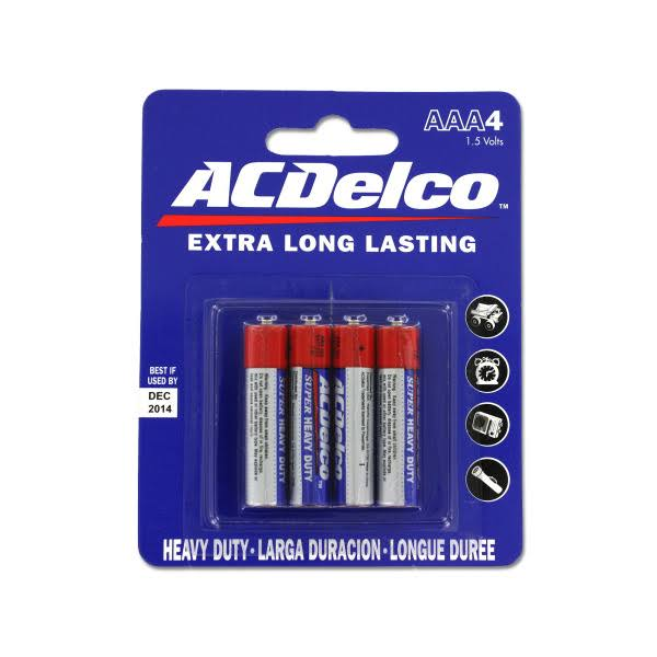 AC Delco AAA Batteries - 4pk