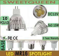 10x dimmable led l 12v mr16 15w spot light bulbs 5 led cool