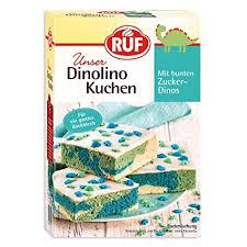 ruf dinolino kuchen dreifarbig mit glasur und bunten dinostreuseln 2er pack 2 x 850 g