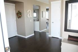 Dark Wood Floors White Trim And Doors Wall Color Its