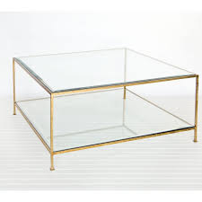 coffee table acclaim coffee table clear and gold coffee table