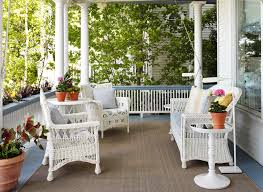 Replacement Cushions For Wicker Furniture Porch Victorian With Blue And White Coastal Columns Cottage Floor Lamp
