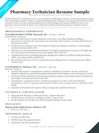 Pharmacist Resume Example Samples Pharmacy Technician Free Assistant