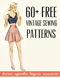 Free Vintage And Retro Dress Sewing Patterns Separates Lingerie Accessories