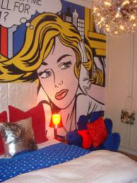 100 Pop Art Interior Roy Lichtenstein Inspired Bedroom Red Blue Yellow