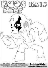 Skylanders Swap Force Coloring Page With The Villain Character