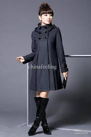 women u0027s winter wool blended coat hooded double breasted thick