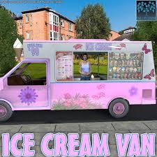 Ice Cream Van 3D Models BlueTreeStudio