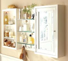 Bathroom Wall Cabinets With Towel Bar by White Wall Bathroom Cabinet Telecure Me