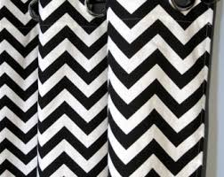 Grey And White Chevron Curtains Uk by 96 Black And White Zig Zag Curtains With Grommets Two