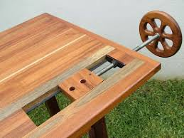 wagon vise using all thread some steel stock and wood parts