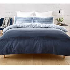 Ombre Quilt Cover Set Queen Bed Blue