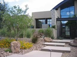 modern front yard landscape with hacienda contemporary hammock