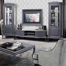 mokko exklusive design wohnzimmermöbel im modernen barock stil grau mit bordeaux touch