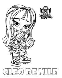 Baby Monster High Coloring Pages Ba Cleo Jadedragonne On Free