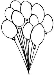 Balloons Coloring Pages To Print Kids
