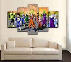 Dragon Ball Z Decorations by 5 Pieces Modern Wall Art Canvas U2013 Bteeful