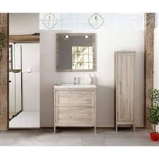 landhaus badezimmermöbel set mit hochschrank spiegel tarifa 110 kief