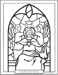 Print Jesus Christ King Coloring Sheet