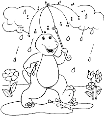 Barney Coloring Pages Photos