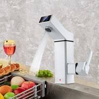 Pudin Armatur Mit Integriertem Durchlauferhitzer 3000w 220v 360 Elektrischer Wasserhahn Warmwasser Küche Badarmatur Küchenarmatur Weiß