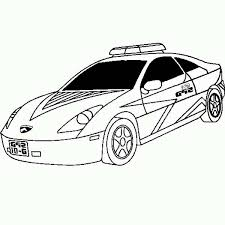 New Lamborghini Police Car Coloring Page