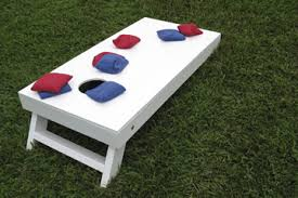 A Bean Bag Toss Set Complete With Board And Bags