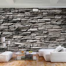 details zu vlies fototapete steinwand grau zieleg steine tapete wandbilder wohnzimmer