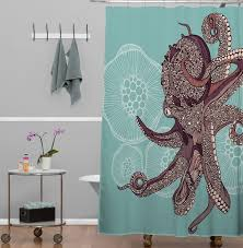 Bath Cotton Octopus Shower Curtain Ikea HomeEbiz
