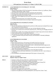 Download Lead Performance Engineer Resume Sample As Image File