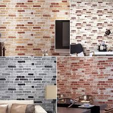 haok home pvc vinyl vintage faux brick 3d wallpaper living