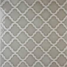 ms international ceramic tile dove gray arabesque 8mm pattern