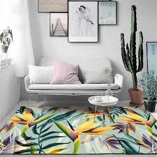 gelb grün blatt teppich für moderne wohnzimmer tropische