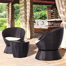 Amazon.com: 3 PCS Outdoor Swivel Bistro Conversation Lounge ... St Kitts Lounge Chairs Set Of 2 Panama Jack Key Biscayne Antique And Brown Outdoor Chair Set With Ottoman Piece Walker Edison Fniture Company Removable Cushions Wood Patio Gray 2pack Telescope Casual Larssen Cushion Swivel Rocker Side Table Abbots Court Cosco Alinum Chaise Costway 3 Wicker Rattan Steel Black Latvia Midcentury Ottoman By Corvus Priest Calvin Hee From Hay Chairset Blue
