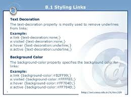 text decoration underline more space client side and web programming ppt