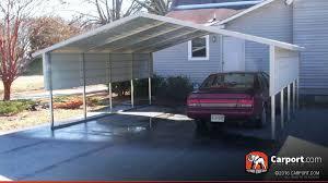 2 Car Boxed Eave Carport 18 x 21