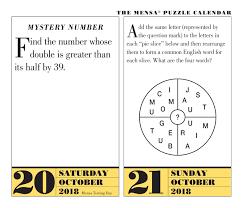 Mensa 365 Brain Puzzlers 2018 Calendar Amazon Fraser