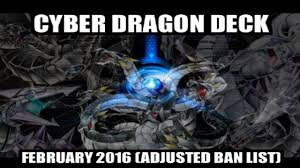 Best Cyber Dragon Deck Profile cyber dragon deck profile february 2016 adjusted ban list youtube