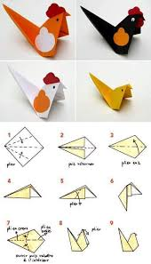 Step By Easy Paper Origami Bird Kids Craft Idea