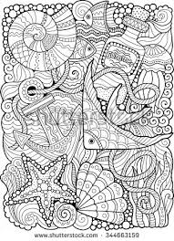 Summers Sea Coloring Page