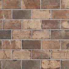 shop style selections broadmeadow brick porcelain floor and wall
