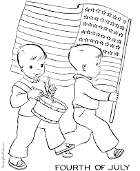 American Flag To Print And Color