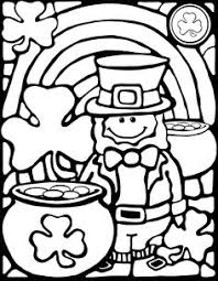 A Cute Leprechaun Coloring Sheet For St Patricks Day Fun The Stained