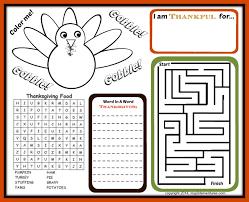 Kids Thanksgiving Activity Printables