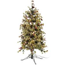 Merry Christmas 4 1 2 Fast Shape Snow Needle Pine Tree With LED