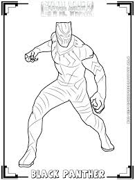 Black Panther Coloring Pages Book Awesome Best Images On