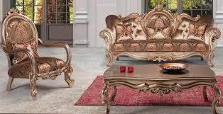 casa padrino luxus barock wohnzimmer set bronze braun bordeauxrot 1 sofa 2 sessel 1 couchtisch prunkvolle wohnzimmermöbel im barockstil