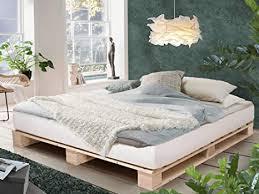 paletti palettenbett massivholzbett holzbett bett aus paletten mit 11 leisten palettenmöbel made in germany 180 x 200 cm fichte natur